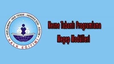 Nesne Tabanlı Programlama Megep Modülleri